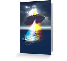 UFO Encounter at the Lake Greeting Card