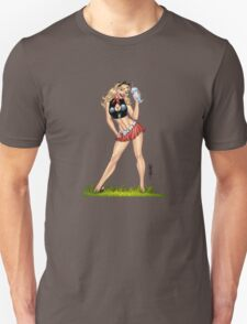 Sexy Blond Milkshake Girl by Al Rio T-Shirt