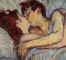 In bed the kiss by PowBowie