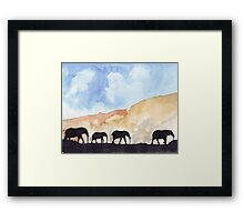 Silhouettes of Africa Framed Print