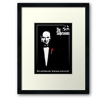 The Sopranos (The Godfather mashup) Framed Print
