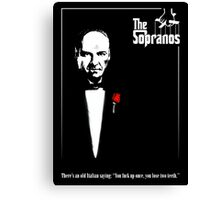 The Sopranos (The Godfather mashup) Canvas Print