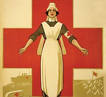 Red Cross WW1 Poster by monsterplanet