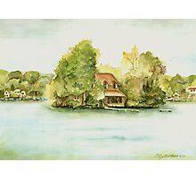 Nickel Island, Big Cedar Lake, Wisconsin Photographic Print