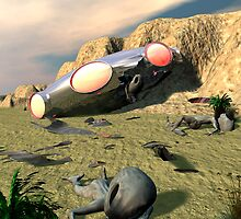 Roswell Like UFO Crash 3 by mdkgraphics