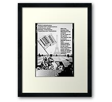 The Consumer Flag  Framed Print
