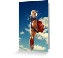 Super woman Greeting Card