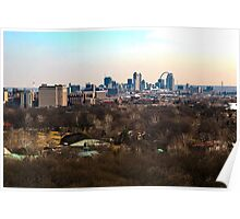 Cityscape of Downtown St Louis MO Poster
