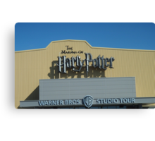 The Making of Harry Potter sign Canvas Print