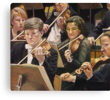 Violin Section Canvas Print