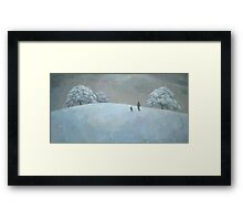 Snowy Hill Framed Print