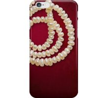 Natural Pearls Necklace iPhone Case/Skin