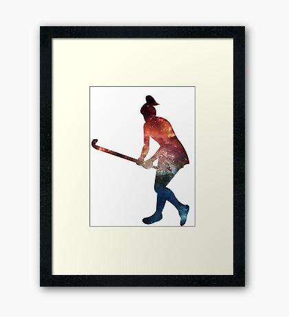 Galactic Field Hockey Girl Framed Print