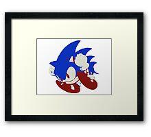 Minimalist Sonic 5 Framed Print