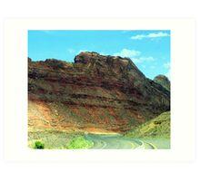 A Drive Through Utah Art Print