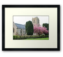Spring At St Mary's Church, Somerset Framed Print
