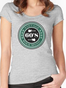 Vintage 60's Rock Music Women's Fitted Scoop T-Shirt