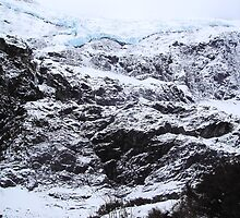 hanging glacier by Candice Cahill
