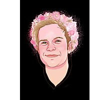 Patrick flower crown  Photographic Print