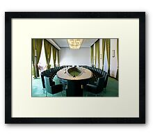 Inside the Presidential Palace - Ho Chi Minh City, Vietnam. Framed Print