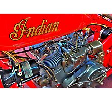 Indian 101 Scout 1928 Photographic Print