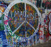 Prague's John Lennon Wall by Hallie Duesenberg