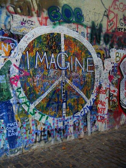 Prague's John Lennon Wall by Hallie Duesenberg