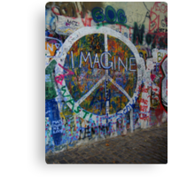 Prague's John Lennon Wall Canvas Print