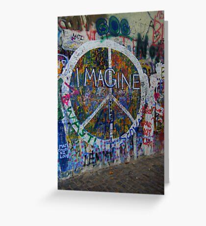 Prague's John Lennon Wall Greeting Card