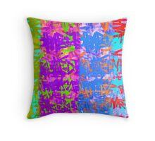 hand made paper-silk screen Throw Pillow