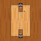 Basketball Court Pitch Hall Ball by CroDesign