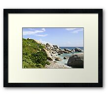 The Rocky Baths Beach Framed Print