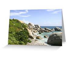 The Rocky Baths Beach Greeting Card