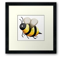 Bumble Bee Emoji Framed Print