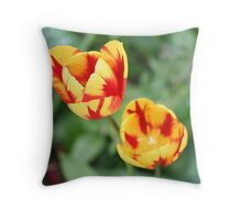 """Two Tone Tulips"" Throw Pillow"