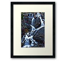 Roadside Waterfall Upper Yosemite Framed Print