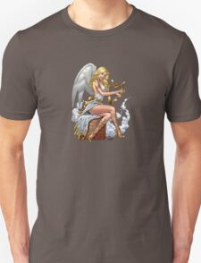Sexy Blond Angel with Harp by Al Rio T-Shirt
