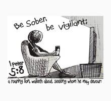 1Peter 5:8 - BE SOBER BE VIGILANT One Piece - Long Sleeve
