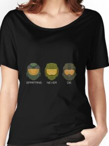 Halo - Spartans never die. Women's Relaxed Fit T-Shirt