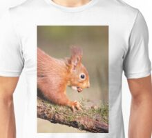 Red Squirrel on log Unisex T-Shirt