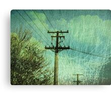 scratches its hammer head against the sky Canvas Print