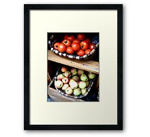 Fruits & Veggies in St. Paul DeVence Framed Print