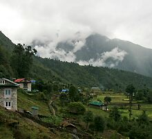 Looking Back to Lukla by Richard Heath