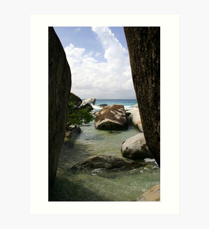 The Baths beach Virgin Gorda Art Print