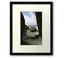 The Baths beach Virgin Gorda Framed Print