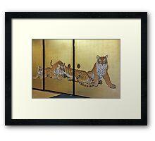 Tea Room Cats Framed Print