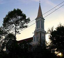 The Church at Dusk - Ho Chi Minh City, Vietnam. by Tiffany Lenoir