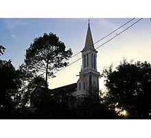 The Church at Dusk - Ho Chi Minh City, Vietnam. Photographic Print