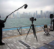 Avenue of the Stars, Hongkong Harbor. by John Mitchell