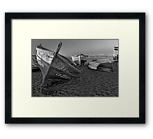 Night of the fishing dead Framed Print